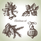 Hand Drawn Christmas Set Royalty Free Stock Photography