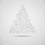 Hand Drawn Christmas Set. Stock Image