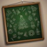 Hand Drawn Christmas Set. Christmas And New Year Symbols. Vector Illustration. Eps 10 stock illustration