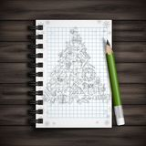 Hand Drawn Christmas Set. Stock Photo
