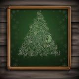 Hand Drawn Christmas Set. Christmas And New Year Symbols. Vector Illustration. Eps 10 vector illustration
