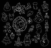 Hand drawn christmas set Royalty Free Stock Image