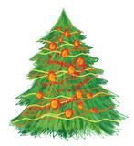 Hand drawn christmas tree Stock Images