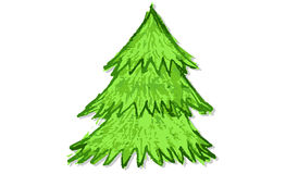 Hand drawn christmas  tree Royalty Free Stock Photography