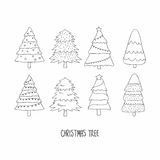 Hand drawn Christmas tree. Doodles and sketches Royalty Free Stock Photography