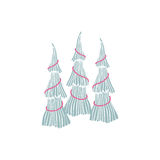 Hand drawn Christmas tree Royalty Free Stock Photo