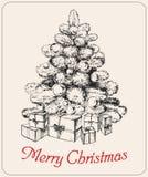Hand drawn christmas tree vector christmas tree vector Stock Photo
