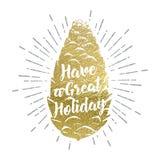 Hand drawn Christmas vector illustration. Royalty Free Stock Image