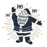 Hand drawn Christmas vector illustration. Royalty Free Stock Photo