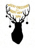 Hand drawn Christmass deer illustration Royalty Free Stock Photo