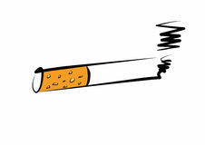 Hand drawn cigarette burns icon Royalty Free Stock Photography