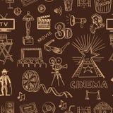 Hand drawn cinema pattern Stock Images
