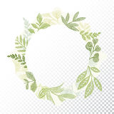 Hand Drawn Circle Flaral Frame Vector Royalty Free Stock Image