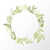 Hand drawn circle flaral frame vector Royalty Free Stock Image
