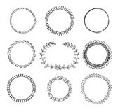 Hand-drawn circle frames royalty free illustration