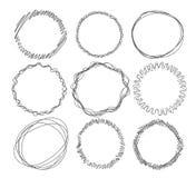 Hand-drawn circle frames Royalty Free Stock Photography