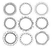 Hand-drawn circle frames Royalty Free Stock Images