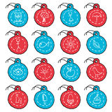 Hand drawn circle tag icons, set 2 Royalty Free Stock Images