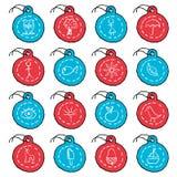 Hand drawn circle tag icons, set 2 Royalty Free Stock Images