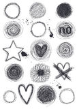 Hand-Drawn Circles Stock Images