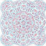 Hand-drawn cirkel geometrisch inktpatroon stock illustratie