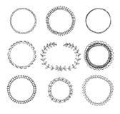 Hand-drawn cirkelkaders royalty-vrije illustratie
