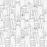 Hand drawn city of houses Royalty Free Stock Photo