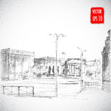 Hand drawn City Street Royalty Free Stock Images