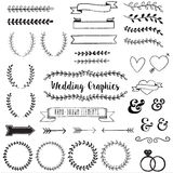 Hand Drawn Clip Wedding Art Stock Photo