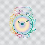 Hand drawn clock. With transparent background Royalty Free Stock Image