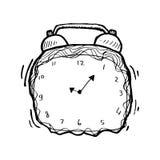 Hand drawn clock stock illustration