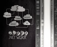 Hand drawn Cloud network Royalty Free Stock Image