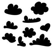 Hand drawn cloud set isolated on white. Sketch speech cloud set. Vector Collection of Hand Drawn Doodle Style. Vector. Illustration for your design Royalty Free Stock Photos