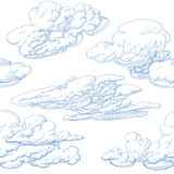 Hand drawn clouds Stock Photos