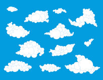 Hand drawn clouds set Royalty Free Stock Photo