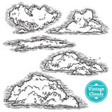 Hand Drawn Clouds Set Royalty Free Stock Photography