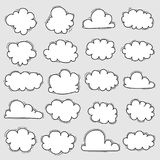 Hand Drawn Clouds Set. Royalty Free Stock Images