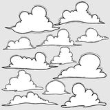 Hand Drawn Clouds Set. Stock Image