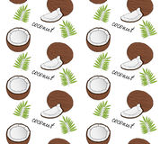 Hand drawn coconut seamless pattern. Vector illustration vector illustration