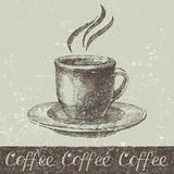 Hand drawn coffee cup Stock Photos