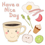 Hand drawn coffee cup Stock Images