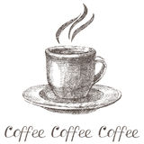 Hand drawn coffee cup Royalty Free Stock Photo
