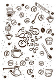 Hand Drawn Coffee Illustrations Stock Photography
