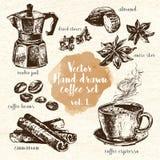 Hand Drawn Coffee Set vol.1 Royalty Free Stock Photography