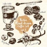 Hand Drawn Coffee Set vol.3 Stock Photo