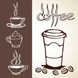 Hand Drawn Coffee Sketches Stock Photo