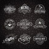 Hand-drawn Coffee Stamps Royalty Free Stock Photos