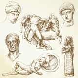 Ancient greece. Hand drawn collection - ancient greece stock illustration