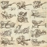 An hand drawn collection, full sized pack - GUITAR SOLO Royalty Free Stock Images