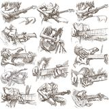 An hand drawn collection, full sized pack - GUITAR SOLO Royalty Free Stock Photo